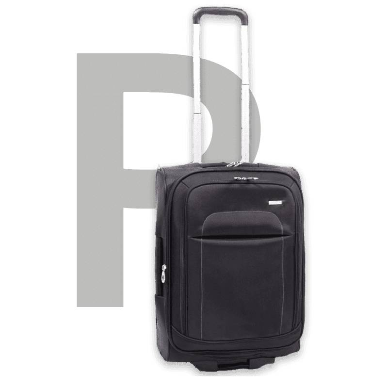 Polyester suitcase